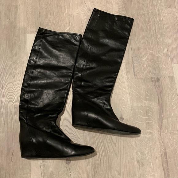 d0cdd8a7d6e Lanvin Shoes - LANVIN HIDDEN WEDGE KNEE BOOTS
